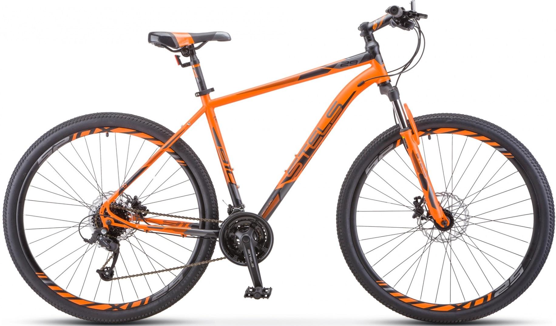"""Велосипед Stels Navigator 910 D 29 V010 оранжевый/черный 29""""/18.5"""""""