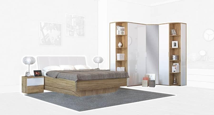 Спальня Интердизайн Тоскано дуб крафт/белый (композиция 4)