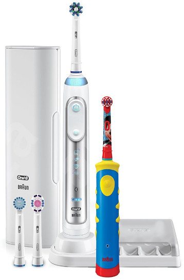 Зубная щетка Braun Oral-B Genius 8200 (8000/D701 Genius White + D10.513K Mickey Kids)