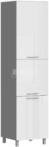 Пенал Столплит Анна 301-360-360-0930 алюминий/белый глянец 60x237x56 см (с фасадом)