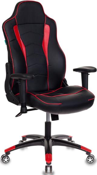 Игровое кресло Бюрократ VIKING-3/BL+RED черный/красный