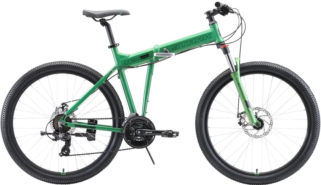 """Велосипед Stark Cobra 27.2 D (2020) зеленый/черный 27.5""""/18"""""""