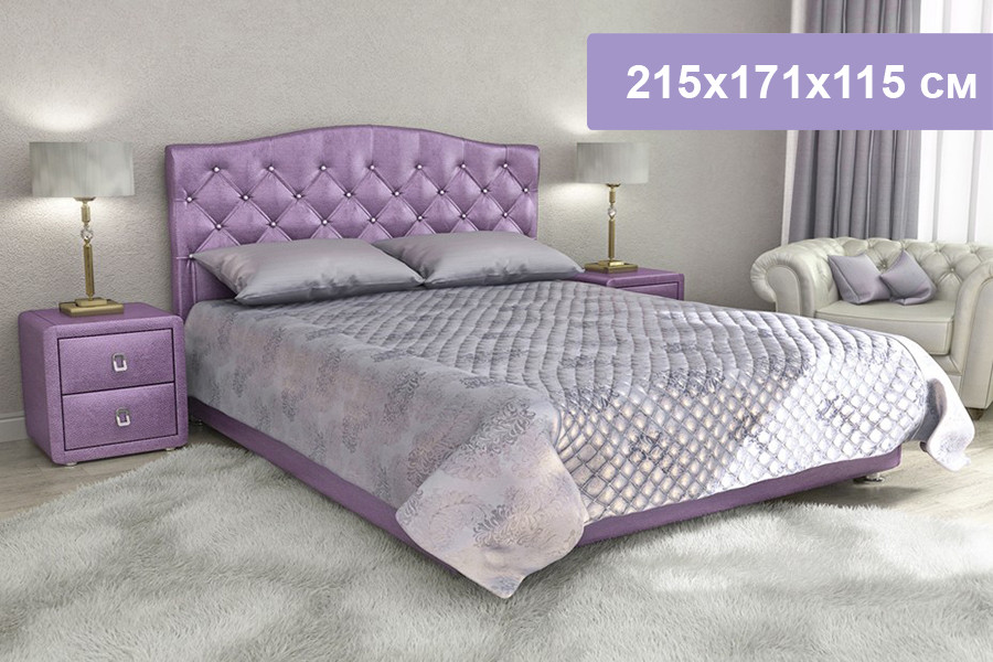 Двуспальная кровать Цвет Диванов Елизавета Н фиолетовый 215x171x115 см