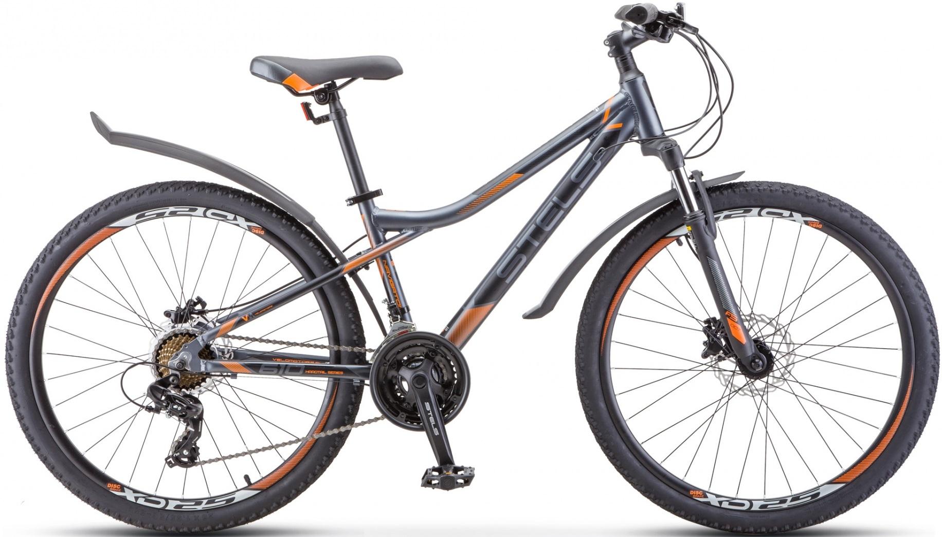 """Велосипед Stels Navigator 610 D 26 V010 (2020) серый/оранжевый 26""""/14"""""""