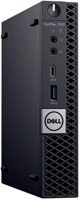 Неттоп Dell OptiPlex 7070 Micro 3GHz/8Gb/256GbSSD/W10 Black