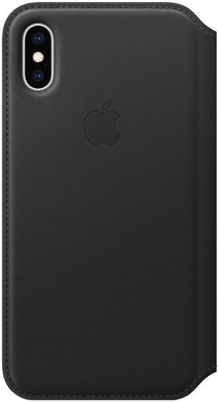 Чехол Apple iPhone Xs Max Leather Folio Black