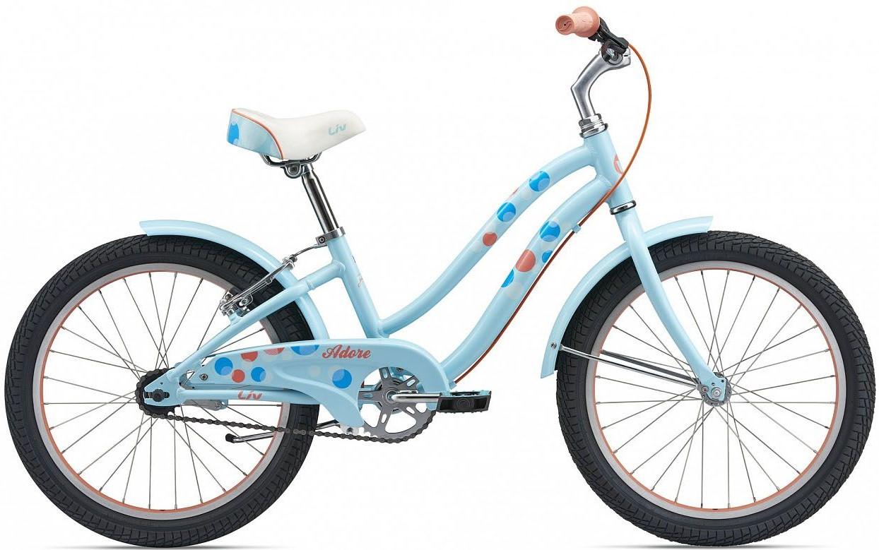"Велосипед Giant Liv Adore 20 (2018) Light Blue/Coral 20"""