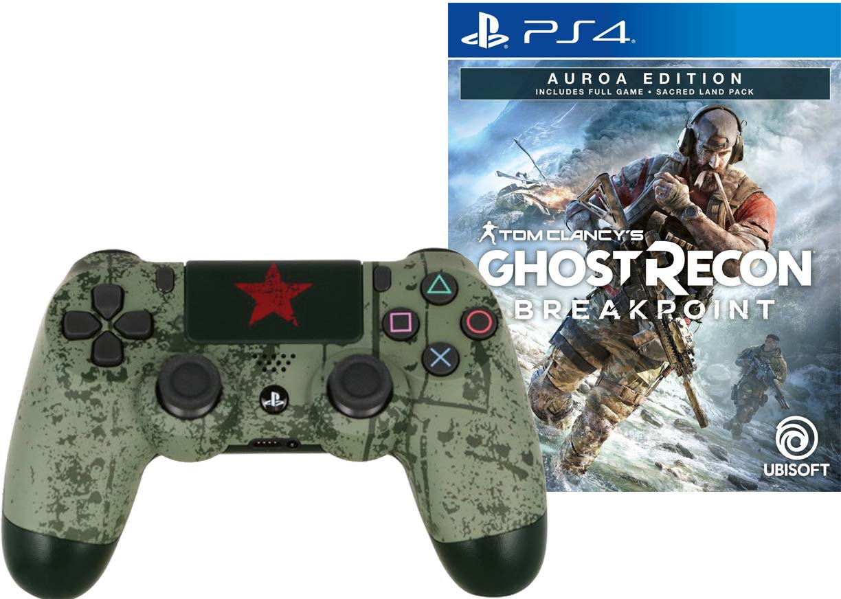 Игра Tom Clancy's Ghost Recon Breakpoint Auroa Edition + Sony DualShock 4 Rainbo Броня победы