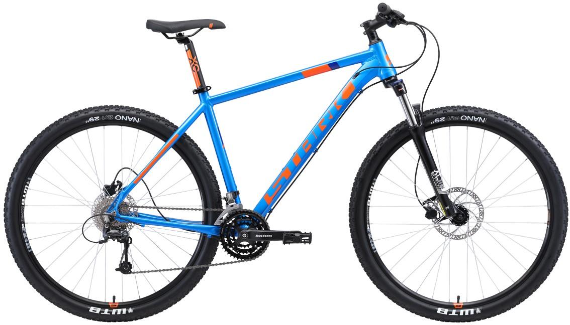 "Велосипед Stark Armer 29.6 HD (2019) голубой/оранжевый 29""/20"""