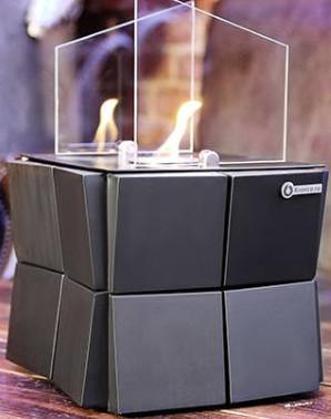 Биокамин Kronco Kvadro Cube черный (настольный)