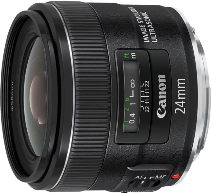 Объектив Canon EF 24mm f/2.8 IS USM Black