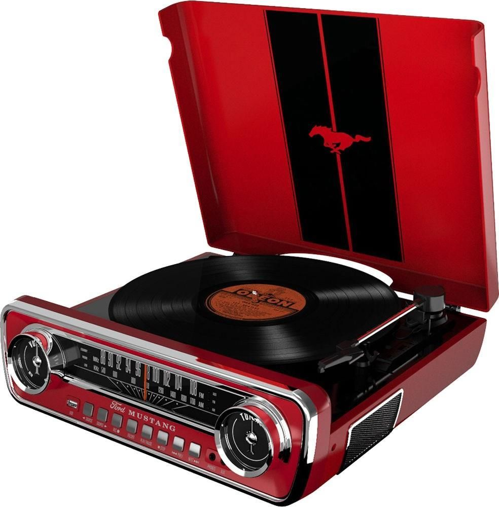 ION Audio Mustang LP (FM-AM) Red