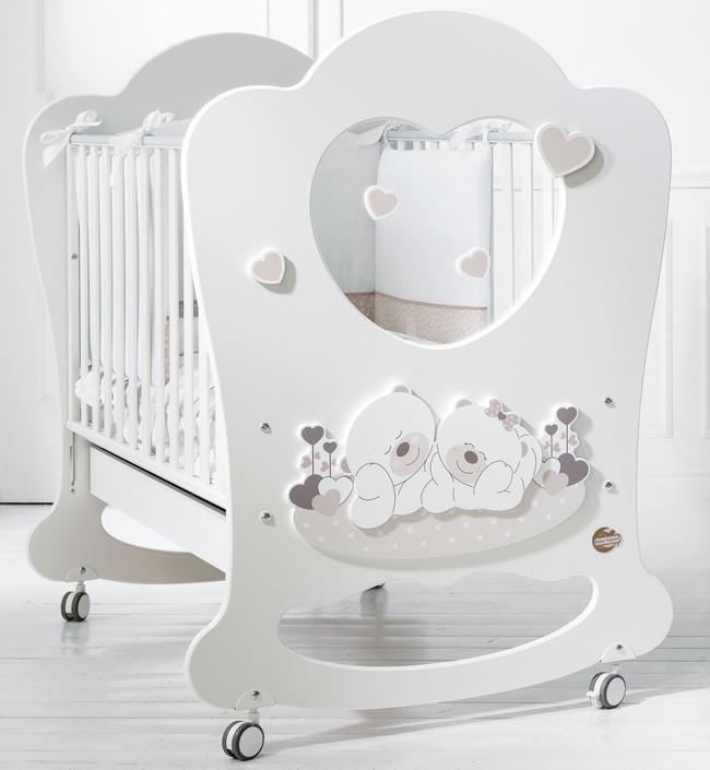 Кроватка Baby Expert Sogno белый/серо-б…