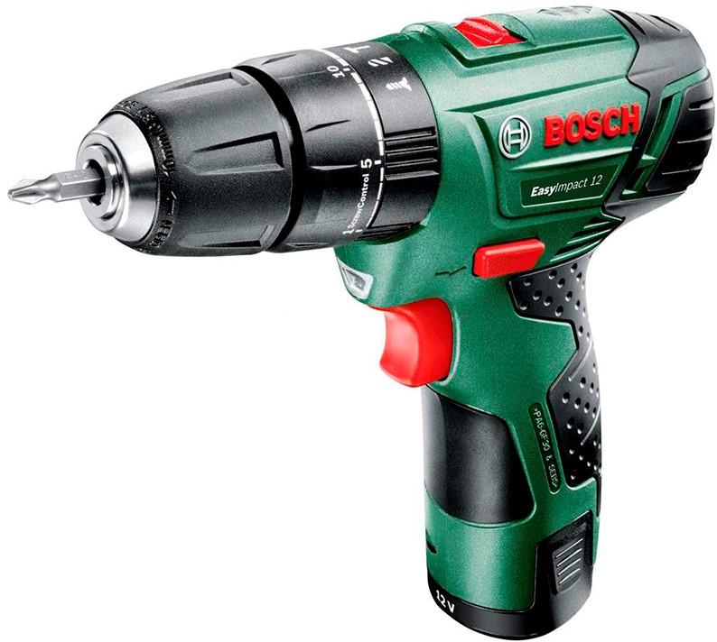 Дрель Bosch 060398390E (2 АКБ)