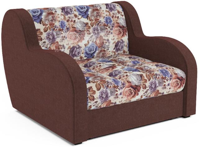 Кресло-кровать Столплит Боро цветы/коричневый 104x96x83 мм