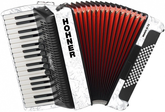 Аккордеон Hohner The New Bravo III 72 White