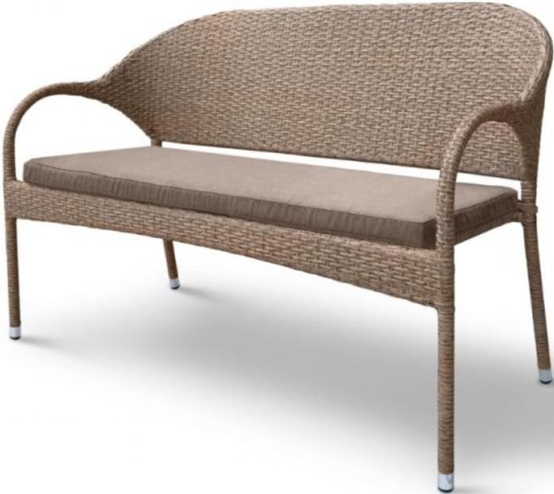 Диван Афина-Мебель S70B-W56 светло-коричневый