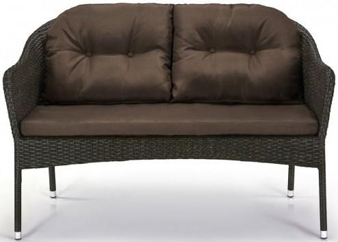 Диван Афина-Мебель S54A-W53 коричневый