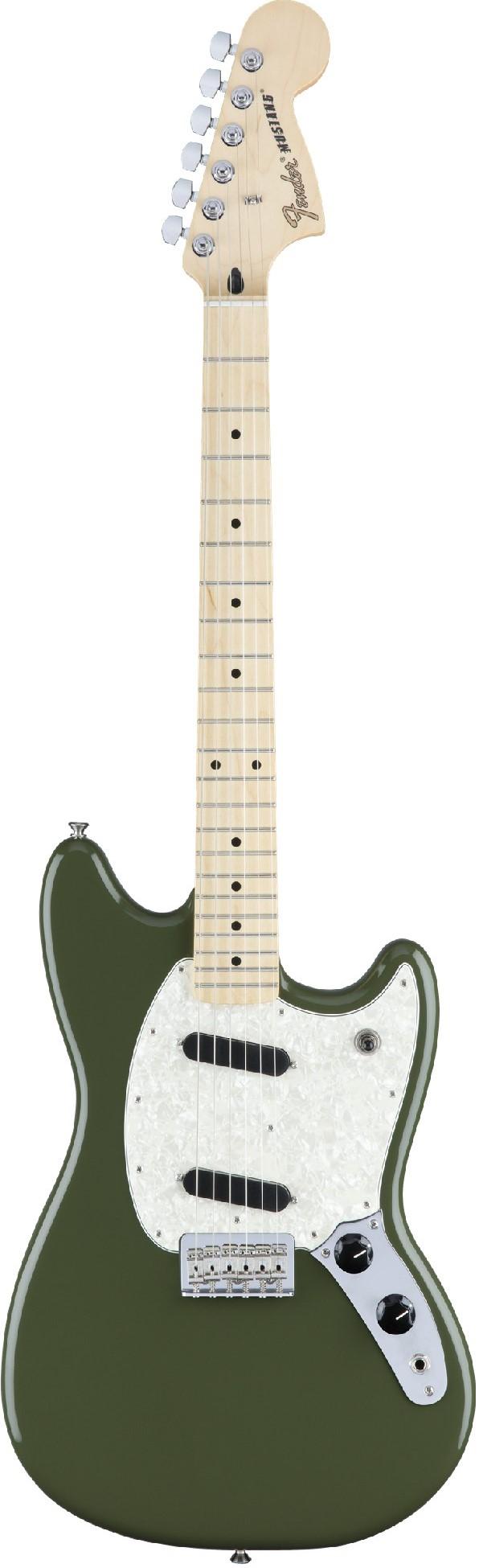 Электрогитара Fender Mustang MN Olive