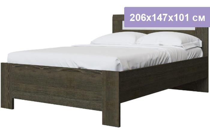 Двуспальная кровать Интердизайн Тоскано Лайт ясень темный/белый 206x147x101 см (ортопедическое основание)