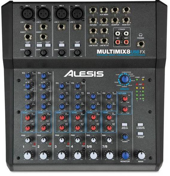 Микшерный пульт Alesis MultiMix 8USBFX