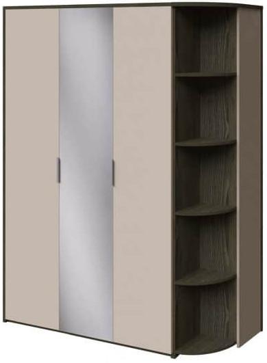 Шкаф Интердизайн Тоскано ясень темный/капучино 2209x1622x599 см