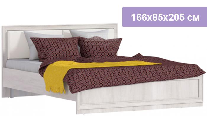 Двуспальная кровать Столплит Флоренция СБ-2395 дуб сонома белый 166x90x206 см