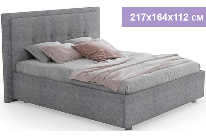 Полутороспальная кровать Цвет Диванов Палермо Н светло-серый 217x164x112 см