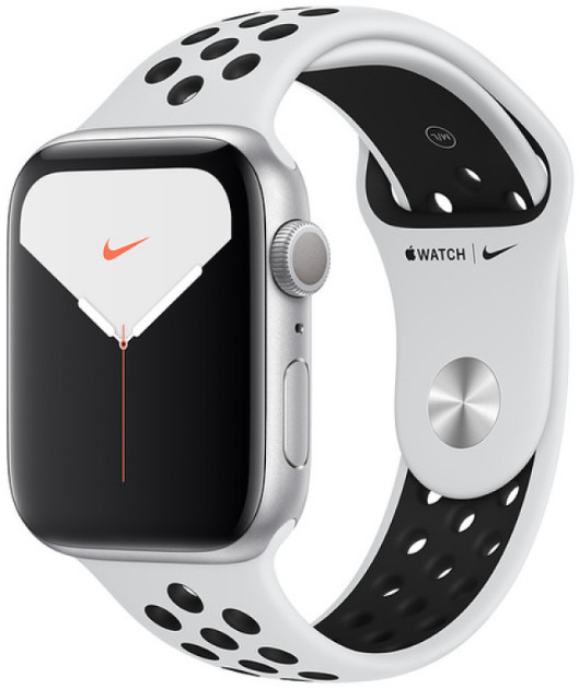 Умные часы Apple Watch Nike+ Series 5 44mm Silver Aluminum Case with Pure Platinum/Black Band