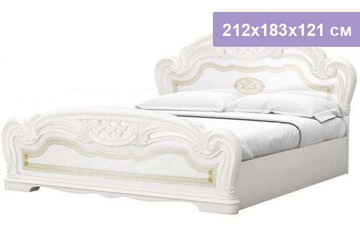Двуспальная кровать Интердизайн Лара бежевый/бежевый 212x183x121 см (ортопедическое основание)