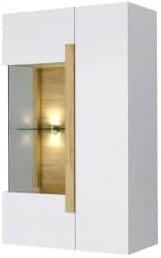 Витрина Интердизайн Дубай светло-коричневый/белый 1230x750x360 см (навесная)