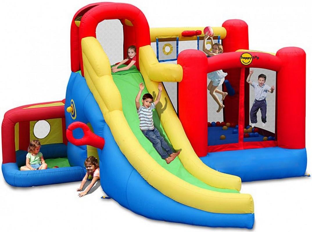 Надувной батут Happy Hop Игровой центр 11в1