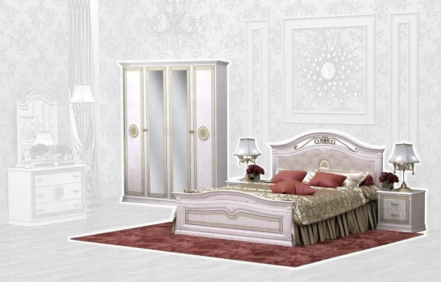 Спальня Интердизайн Версаль бежевый/бежевый (композиция 2)