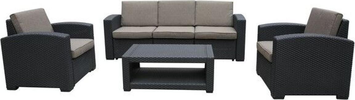Комплект мебели Афина-Мебель AFM-3017B темный коричневый