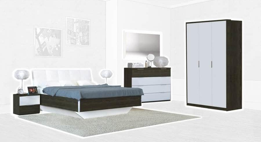 Спальня Интердизайн Тоскано ясень темный/белый (композиция 3)