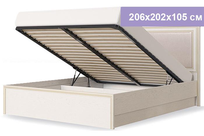 Двуспальная кровать Столплит Венето дуб/леонардо 206x202x105 см (ортопедическое основание 1800, с механизмом)