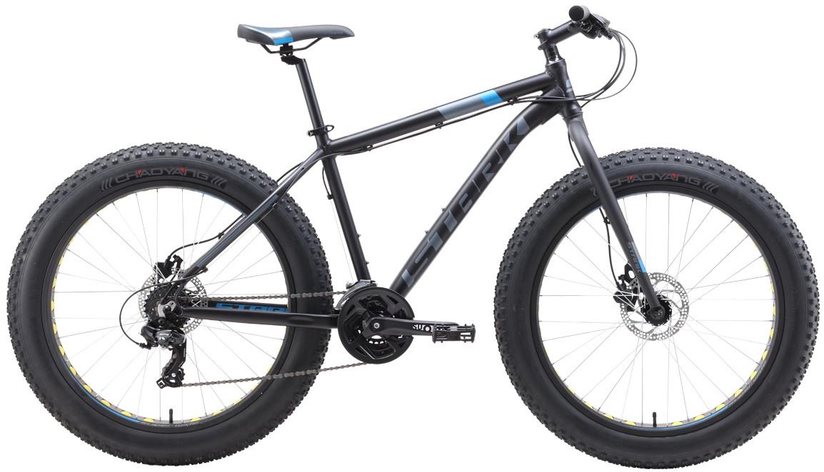 """Велосипед Stark Fat 26.2 HD (2019) черный/голубой/серый 26""""/20"""""""