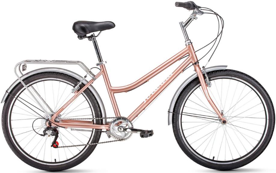 "Велосипед Forward Barcelona Air 1.0 26 (2019) бежевый 17"""