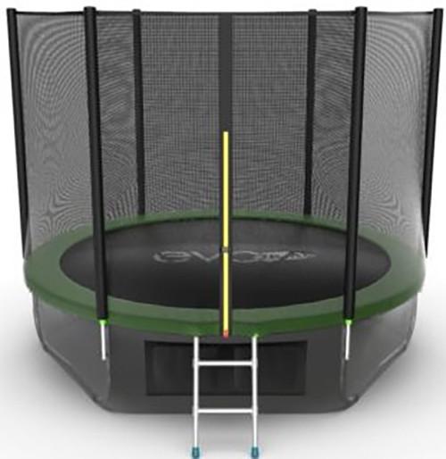 Батут Evo Jump External 10FT Green (с внешней и нижней сеткой, лестницей)