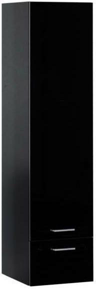 Навесной пенал Aquanet Верона 40 черный 40x160x39 см