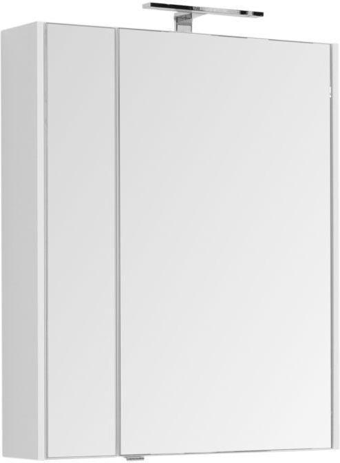 Зеркало-шкаф Aquanet Августа 75 белый 75x90x16 см
