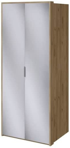 Шкаф Интердизайн Тоскано дуб крафт/белый 2209x968x599 см (с зеркалами)