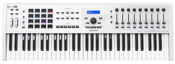 Миди-клавиатура Arturia KeyLab MkII 61 White