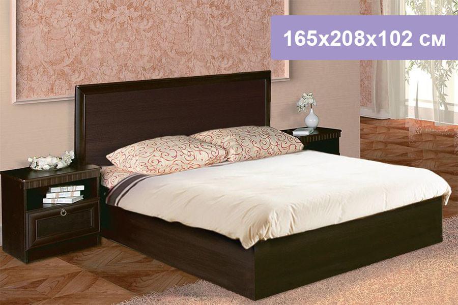 Двуспальная кровать Цвет Диванов Риккарди К-18 венге 165x208x102 см