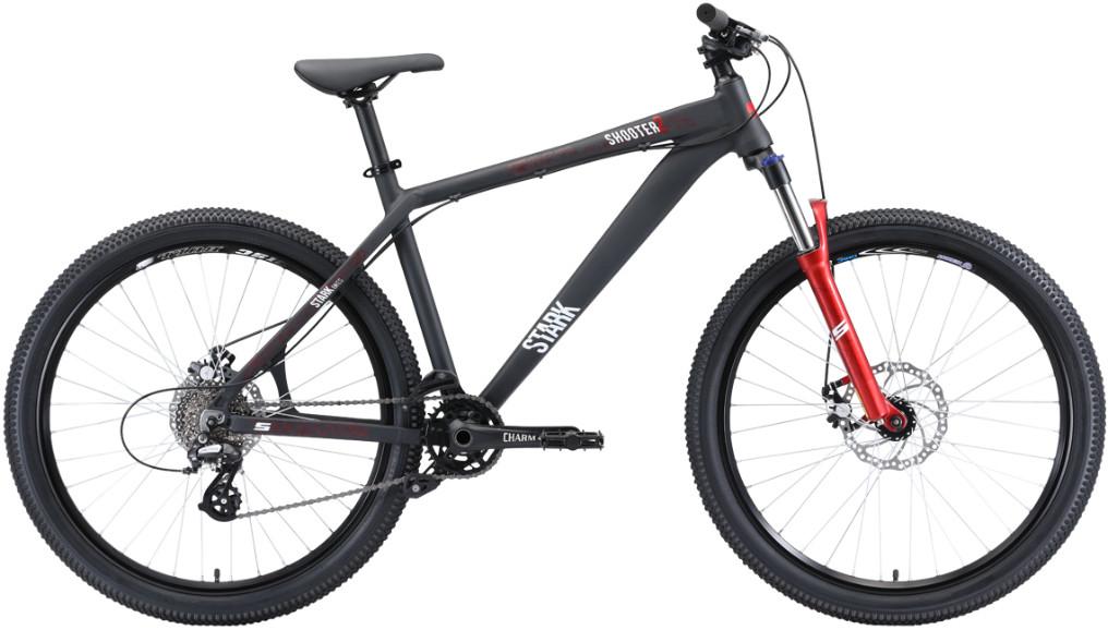 """Велосипед Stark Shooter 2 (2020) черный/белый/красный 26""""/18"""""""