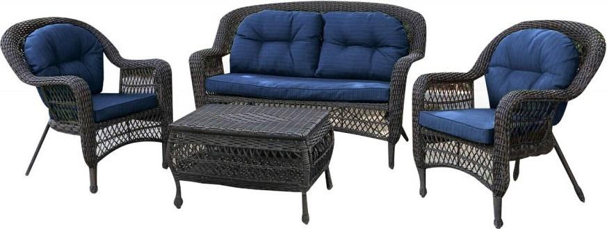 Комплект мебели Афина-Мебель LV520BB коричневый/голубой