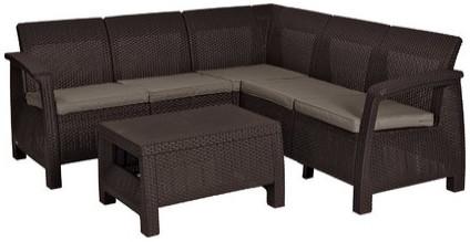 Комплект мебели Allibert Corfu Relax коричневый/серый/бежевый