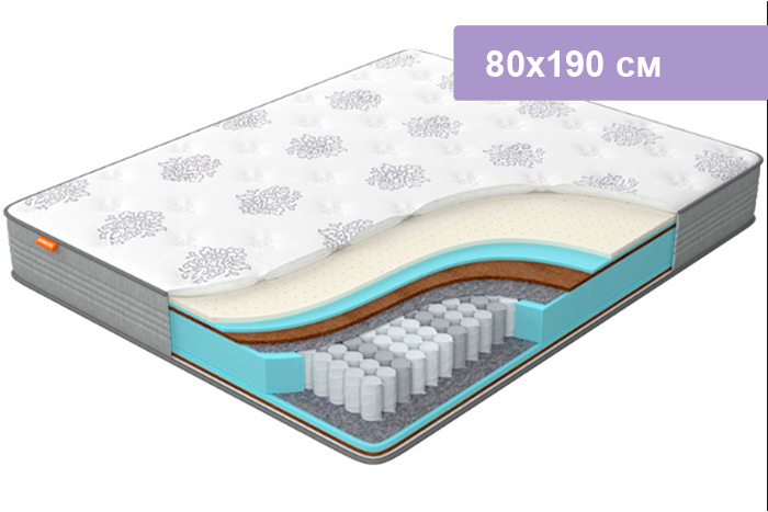 Матрас Орматек Comfort Duos Middle/Hard серый 80х190 см