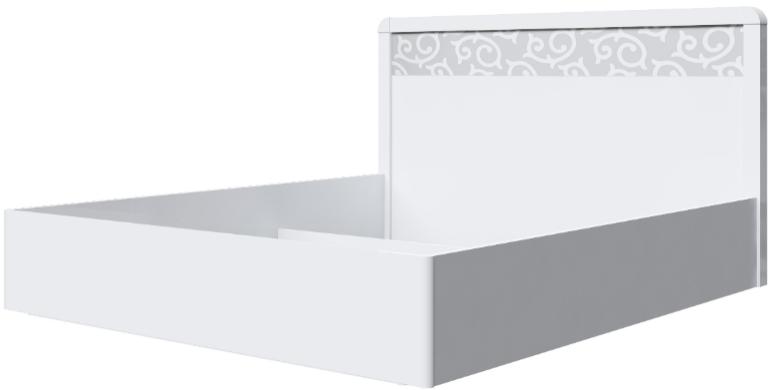 Корпус кровати Интердизайн Белла белый/белый 107x189x213 см
