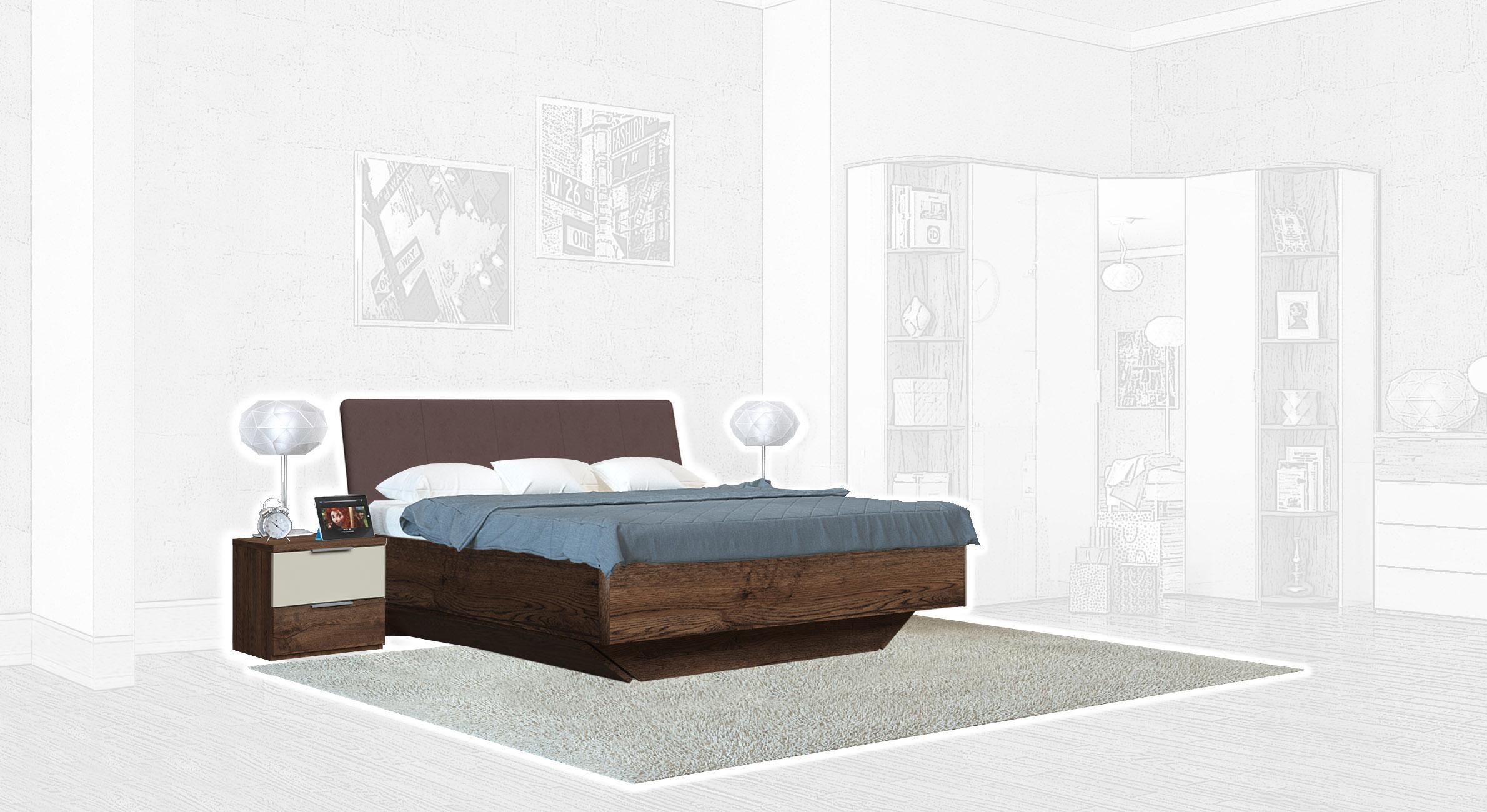 Спальня Интердизайн Тоскано темно-коричневый/бежевый (композиция 1)